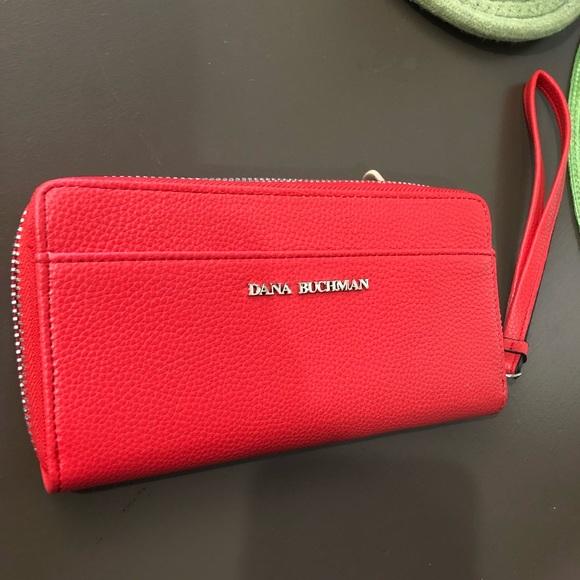 Dana Buchman Handbags - Dana Buchman Red Wallet